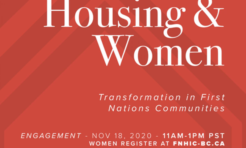 Housing & Women FNHIC-BC Event