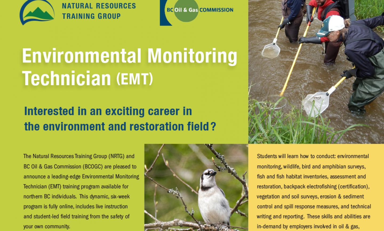 Training Opportunity – Environmental Monitoring Technician