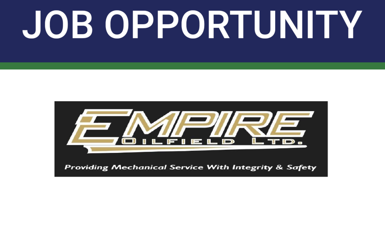 Job Opportunity – Apprentice Field Technician