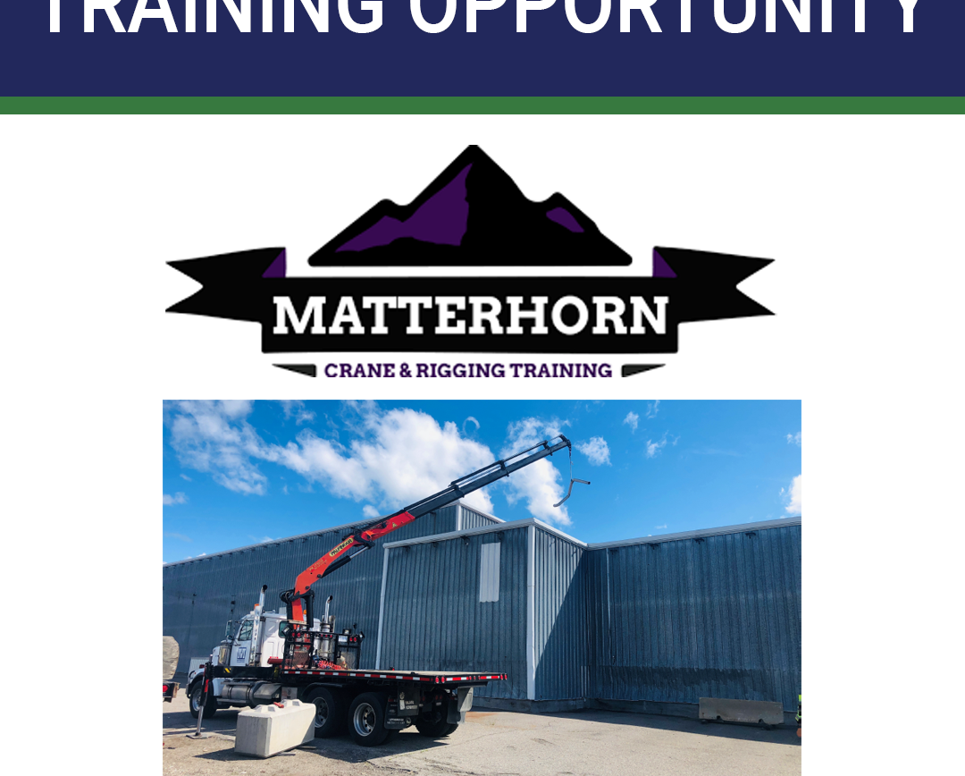 Matterhorn Crane & Rigging Training